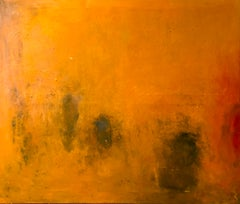 Oil & cold wax painting, Sandrine Kern, Warmth