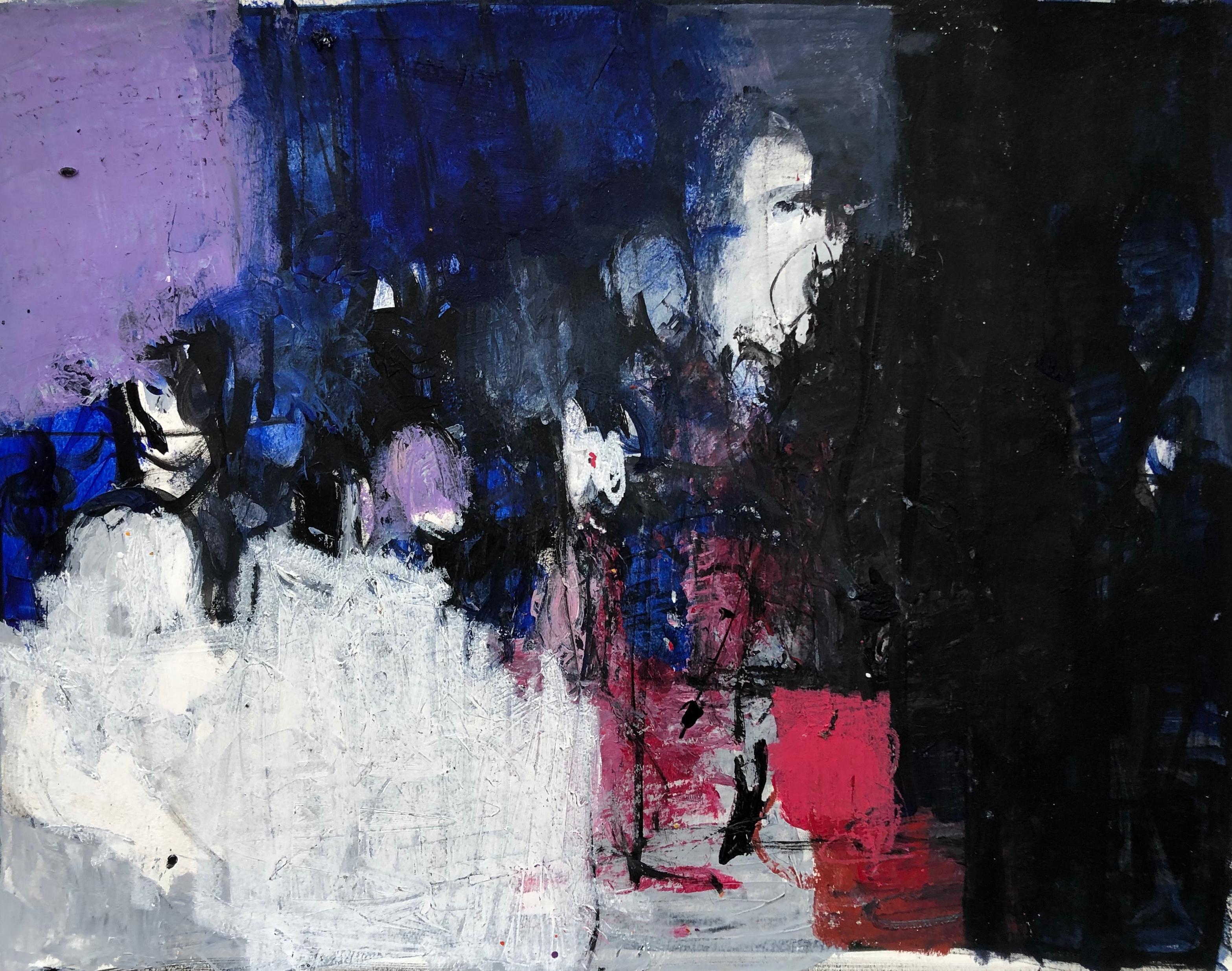 Oil & cold wax painting, Sandrine Kern, Untitled #5