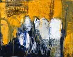 Oil & cold wax painting, Sandrine Kern, Untitled #6