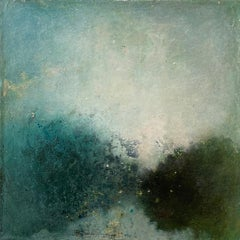Oil & cold wax painting, Sandrine Kern, Landscape I