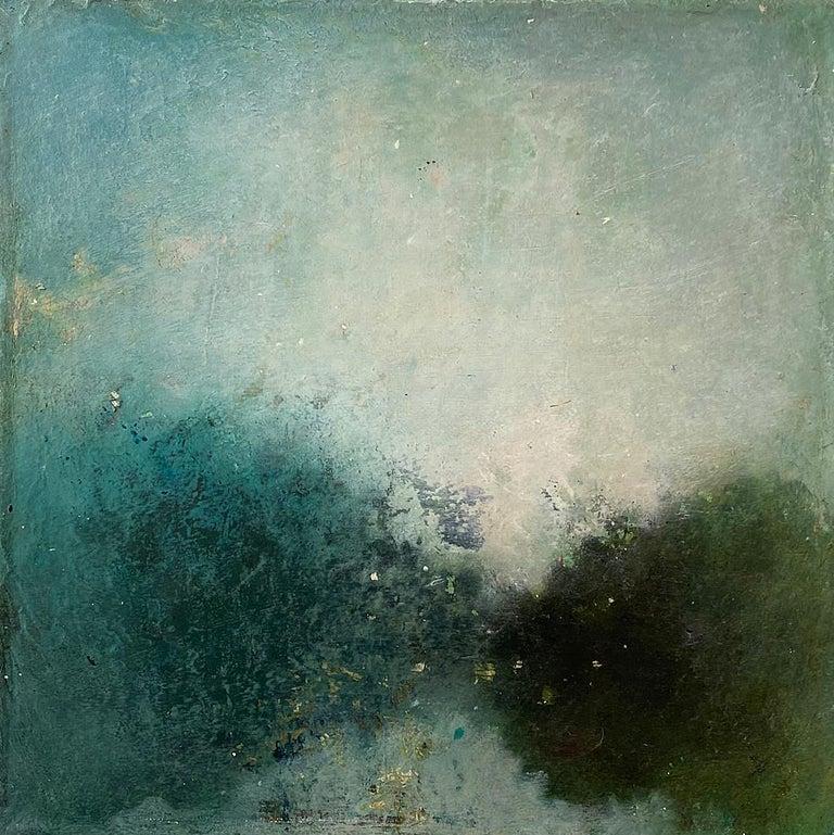 Oil & cold wax painting, Sandrine Kern, Landscape I - Painting by Sandrine Kern