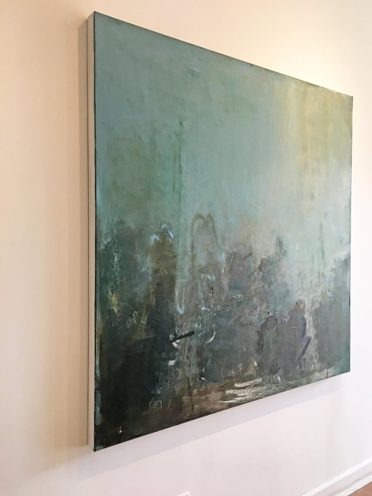 Any Day Now - Abstract Expressionist Painting by Sandrine Kern