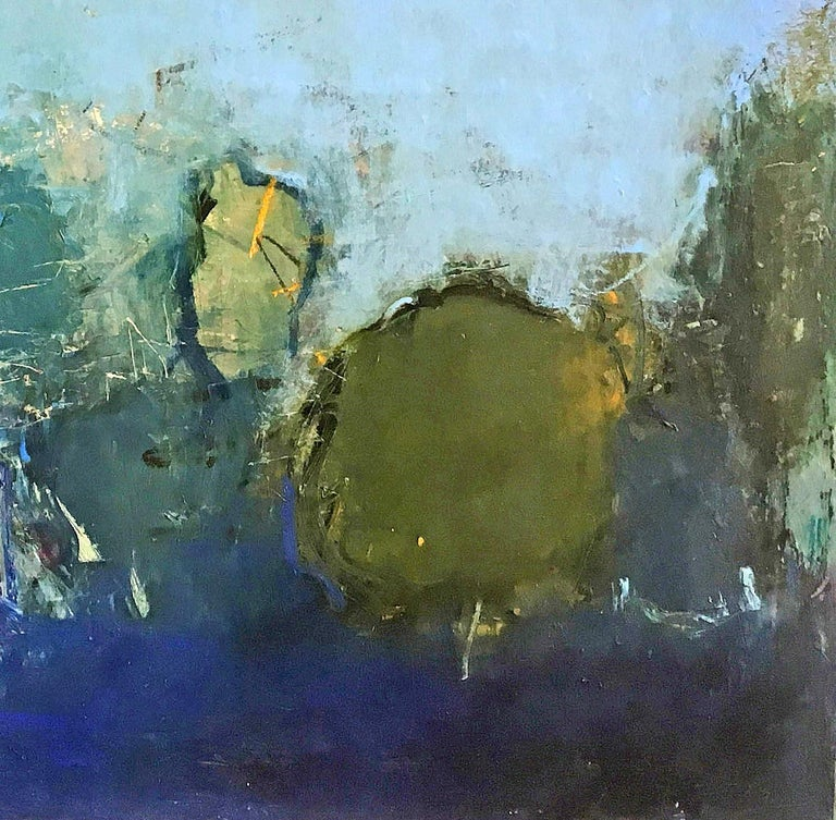 Oil & cold wax painting, Sandrine Kern, Floral Park For Sale 2