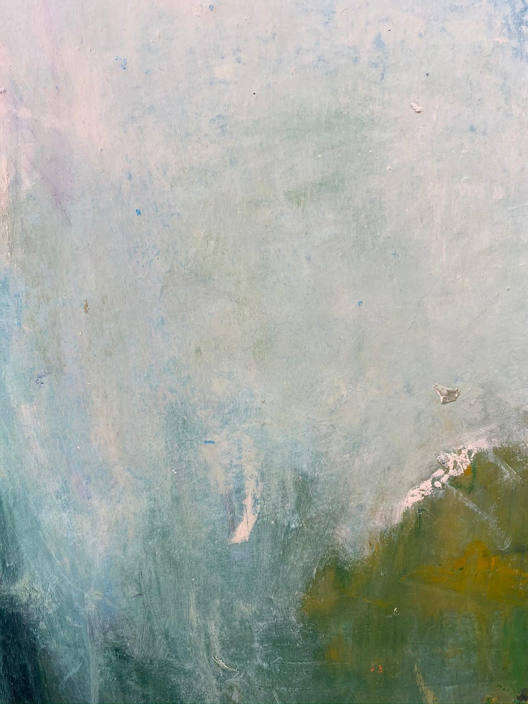 Oil & cold wax painting, Sandrine Kern, Spring For Sale 2