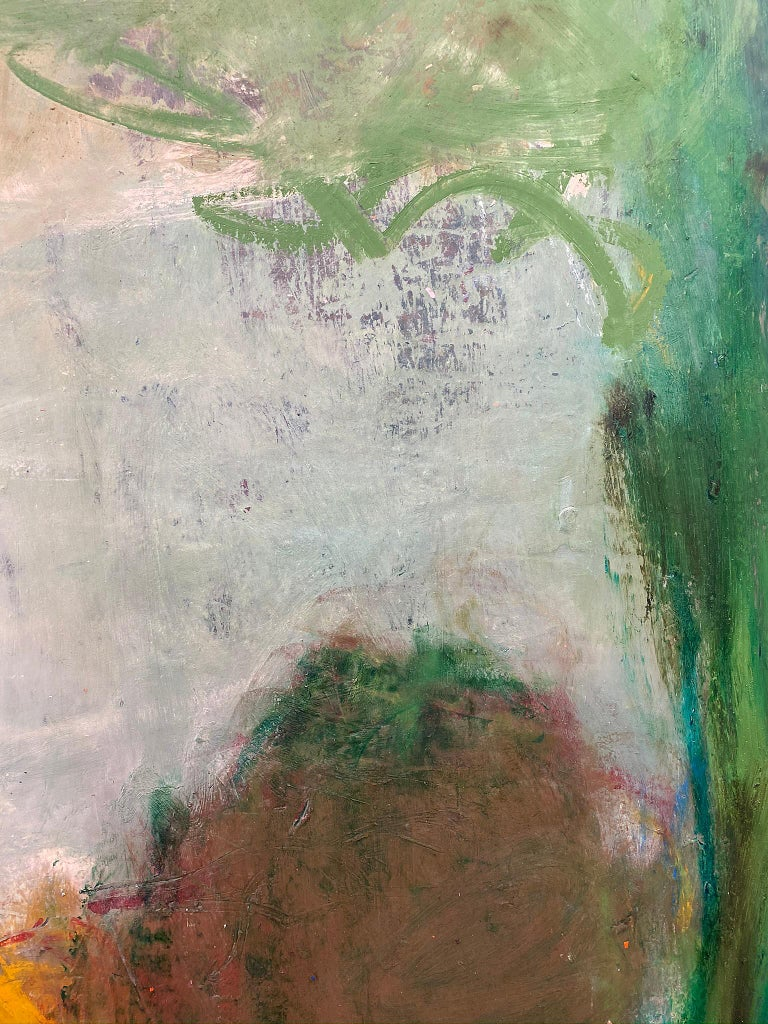 Oil & cold wax painting, Sandrine Kern, Spring For Sale 4