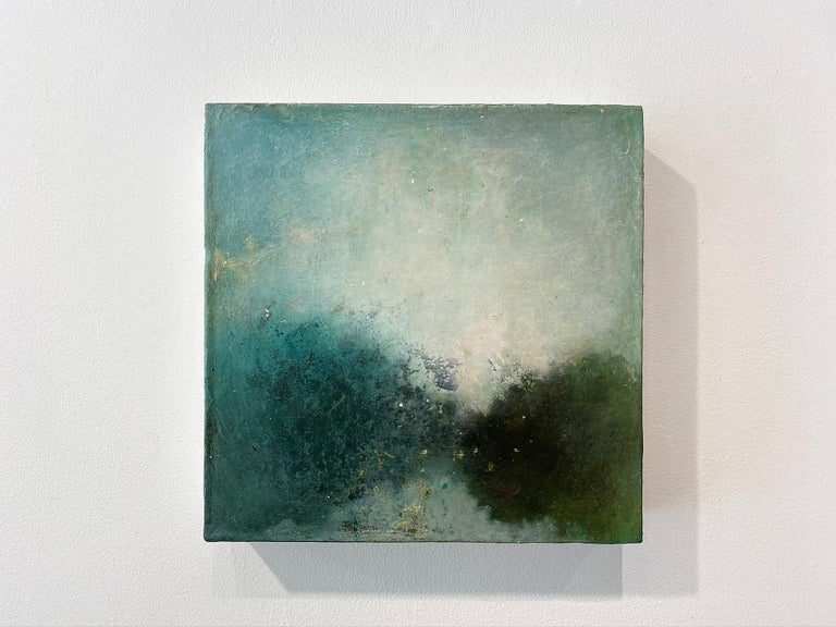 Oil & cold wax painting, Sandrine Kern, Landscape I - Abstract Painting by Sandrine Kern