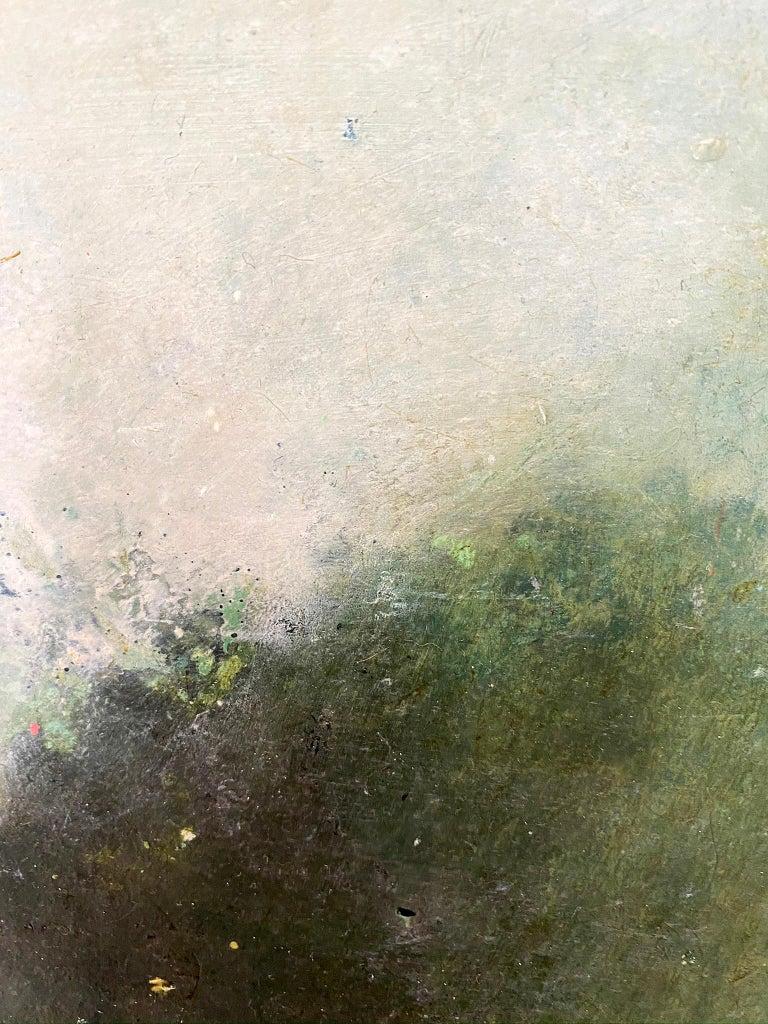 Oil & cold wax painting, Sandrine Kern, Landscape I For Sale 2