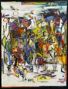 Wosene Kosrof abstract painting 'The Heart of Dance'