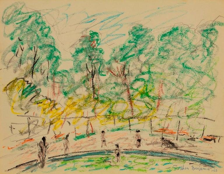 """Gershon Benjamin Landscape Art - """"Central Park"""""""