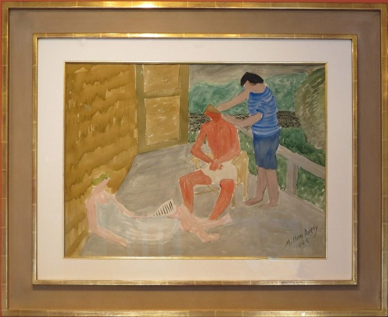 """Milton Avery Abstract Drawing - """"Country Haircut"""""""