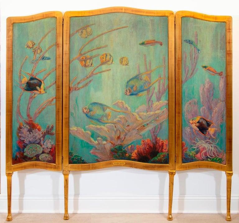"Eleanor Abrams Animal Painting - ""Underwater Garden"""