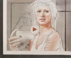 Apple and Evelyn / figurative work on paper - gorgeous