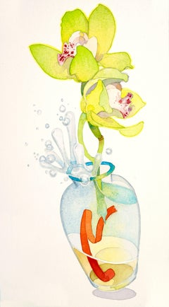 Excited Orchids / watercolor
