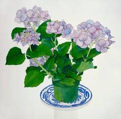 Lavender Hydrangea / watercolor