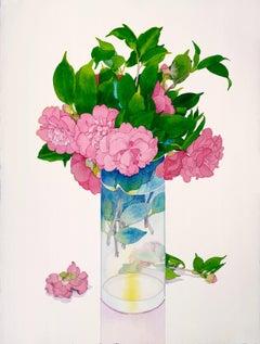 Healdsburg Camelias / watercolor