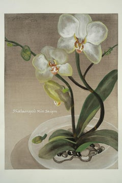 Mademoiselle / botanical orchid watercolor