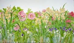Paradise Garden / large contemporary flower still life 54 x 90 inches