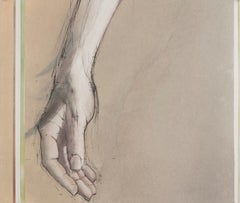 HAND STUDY / A woman's hand - original drawing / painting