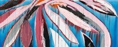 (De) Liro - abstract painting (diptych) oil on canvas 4x10 feet