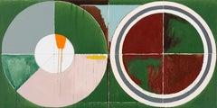 Landscape No. 3 / abstract geometry, architecture, farmland, 3x6 feet