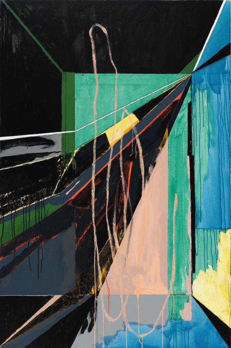 Javier Arizmendi-Kalb Interior Painting - Chapel No. 1 / abstract geometry, architecture, light - 6x4 feet