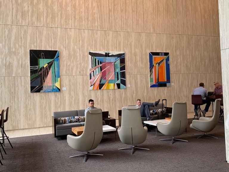 Chapel No. 1 / abstract geometry, architecture, light - 6x4 feet - Painting by Javier Arizmendi-Kalb