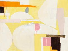 Still Life / abstract expressionistic geometry in soft yellow