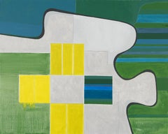 Landscape No. 4 / abstract geometry, architecture, farmland, 4x5 feet