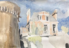 Dinan, France - watercolor, matted in archival sleeve