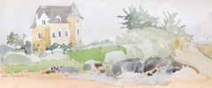 St. Briac, France - watercolor, matted in archival sleeve