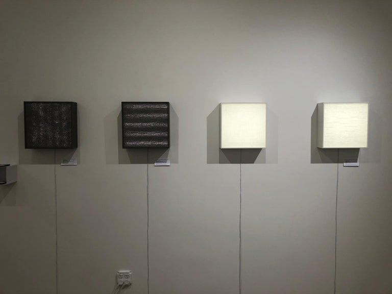 Light Box No. 2605 - electric light emanating wall or table sculpture - Sculpture by Sophia Dixon Dillo