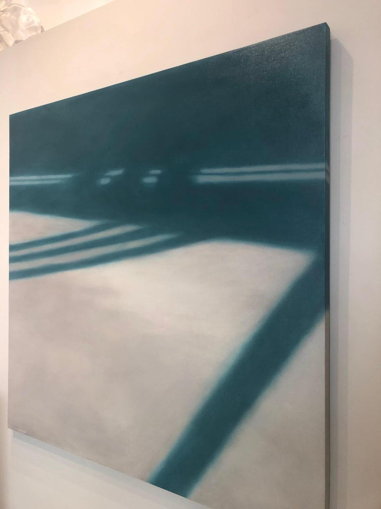 Reflections on Crossing XXV / abstract realism, architecture, minimalism - Contemporary Painting by Anne Subercaseaux