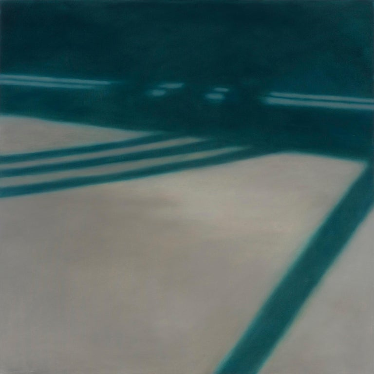Anne Subercaseaux Abstract Painting - Reflections on Crossing XXV / abstract realism, architecture, minimalism