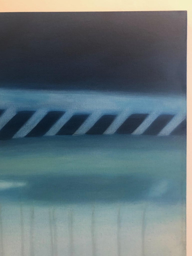 Reflections on Crossing XXXVIII / abstract realism, architecture, minimalism - Contemporary Painting by Anne Subercaseaux