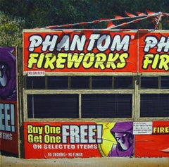 Phantom Fireworks - original watercolor painting