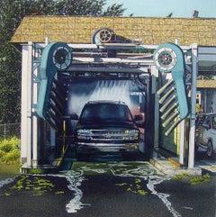 Car Wash - original unique watercolor