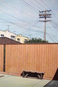 Backyard Bench - original watercolor 1974-2016