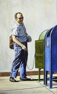 Postman - original watercolor