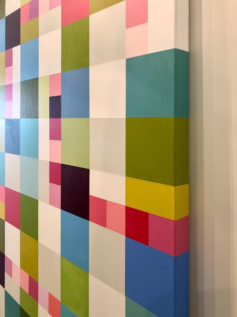Artist Jill Keller Peters is a colorist whose abstract color-field oil paintings communicate ideas through color. By juxtaposing pure and vivid hues that speak to each other when combined, Keller Peters choreographs rhythm and space through a poetic