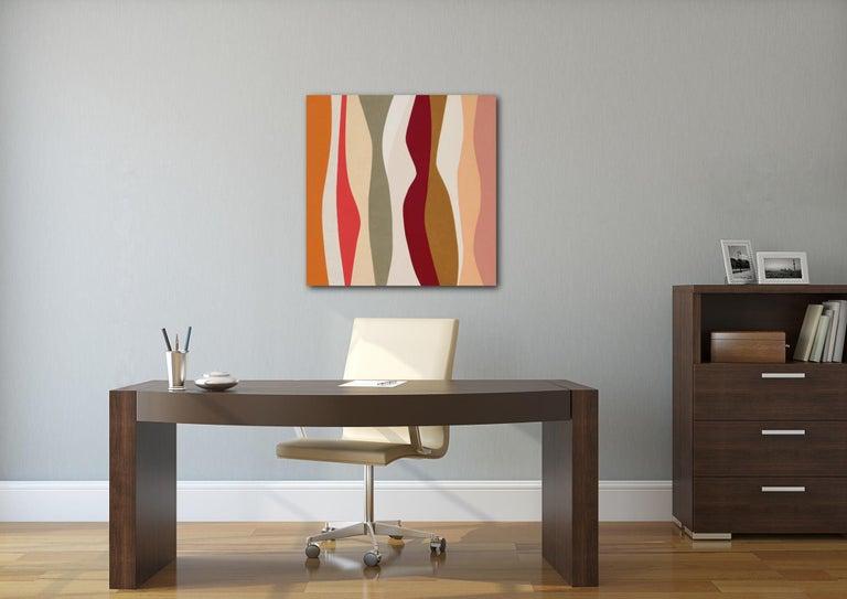 Marimba - Contemporary Painting by Jill  Keller Peters