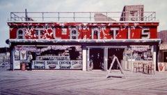 Atlantis - original unique watercolor Coney Island