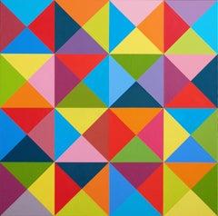 Vivace' - multicolor vibrant oil painting
