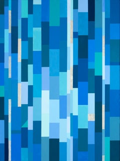 Presence - beautiful blue abstract painting