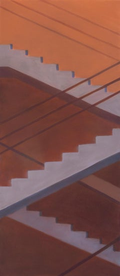 Ascendance - vertical staircase oil on canvas