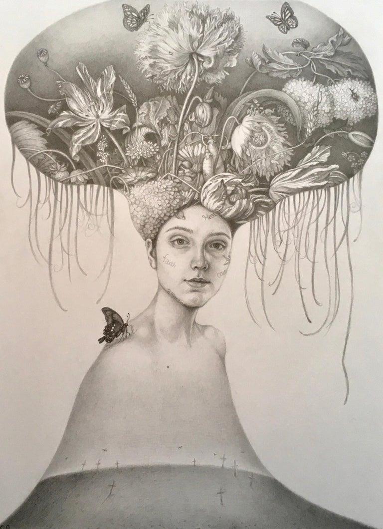 Chikako Okada Figurative Art - Infanta Madre Tierra (Mother Earth)