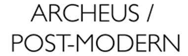 ARCHEUS / POST-MODERN