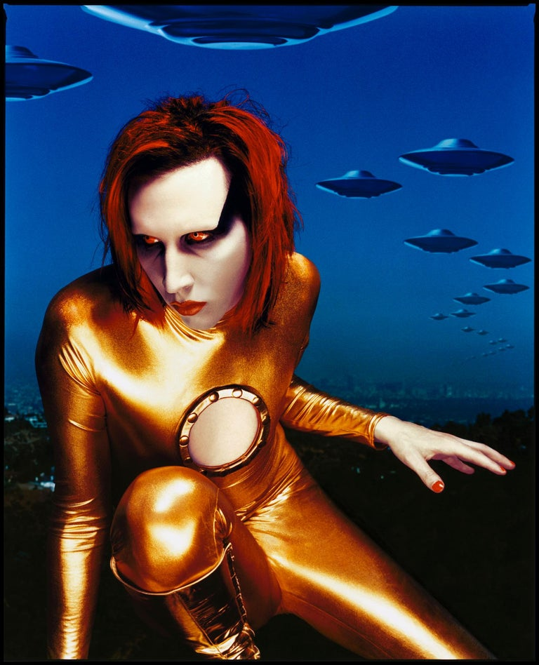Portrait Of Marilyn Manson 1998 Los Angeles   Archival Fine Art pigment print edition of 10  30 x 40 inches / 76 xc 101 cm signed and numbered on the front by Kevin Westenberg.   (The stated print size is the Image size, and not the overall paper