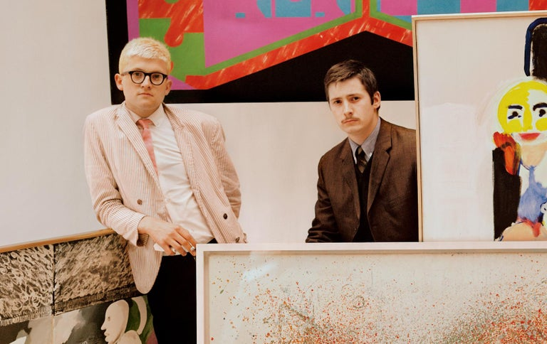 Young British Artists - signed limited edition print - Oversize - David Hockney  - Photograph by Peter Rand