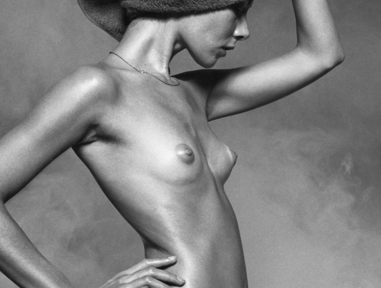 Nude For Harpers Bazaar - signed limited edition silver gelatin print  - Silver Nude Photograph by Peter Rand