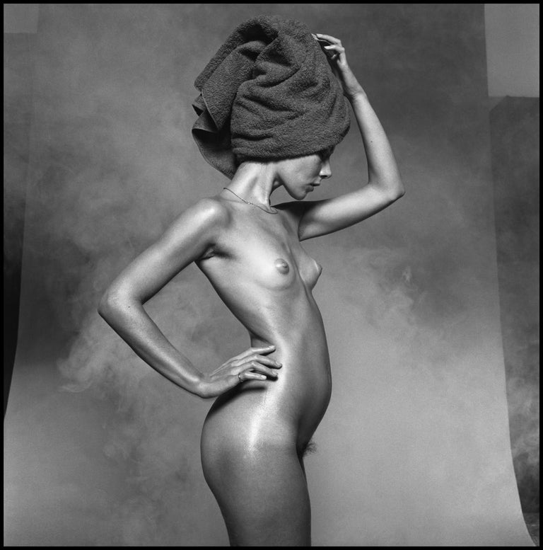 Peter Rand  Nude Photograph - Nude For Harpers Bazaar - signed limited edition silver gelatin print